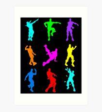 FORTNITE Emote Colorful Art Print