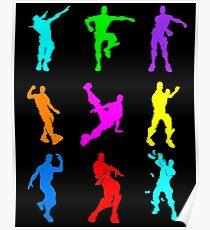 FORTNITE Emote Colorful Poster
