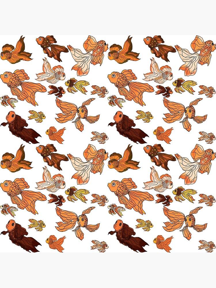 Fancy Goldfish Pattern by GroglioArt