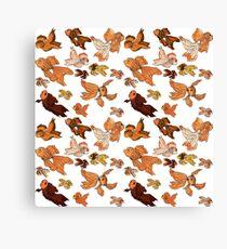 Fancy Goldfish Pattern Canvas Print