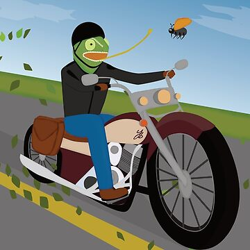 Chameleon on a bike by yanatibear