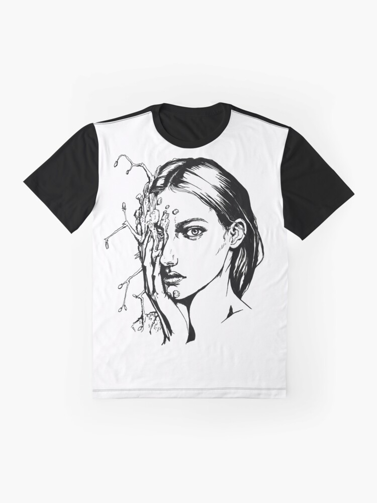 Alternate view of Wooden | Ink Drawing Graphic T-Shirt