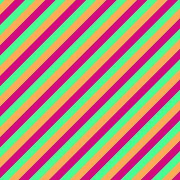 Sherbert Stripe by nealdepinto