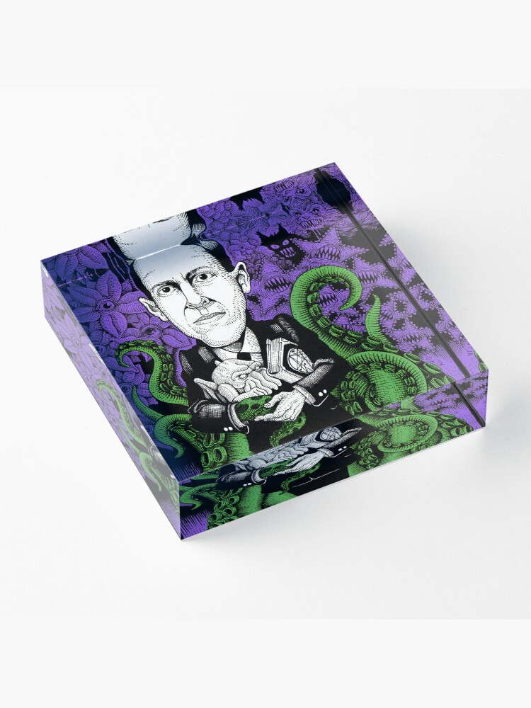 Alternate view of Lovecraft (Color) Acrylic Block