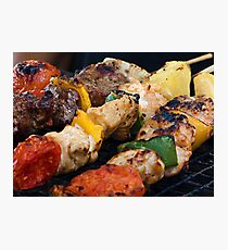 BBQ Skewers Photographic Print