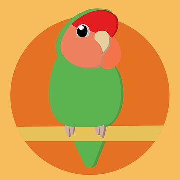 Cartoon Peach Faced Lovebird by parakeetart