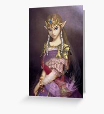 Portrait of Zelda of Hyrule Greeting Card