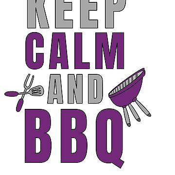 Pitmaster BBQ Barbecue food grill Put my meat in your mouth and swallow design keep calm by Customdesign200