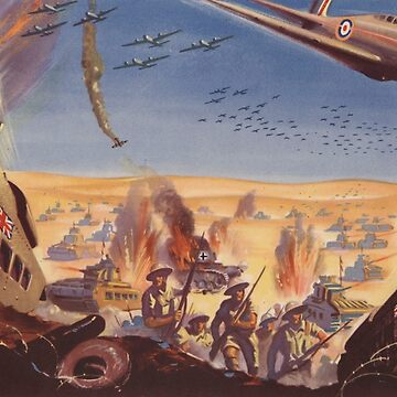 The British Army Makes a Lightning Advance in North Africa by Lueshis