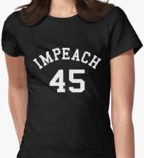 Impeach 45 (white letters) Women's Fitted T-Shirt