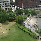 Aerial View, Brooklyn Bridge Park, Brooklyn, New York City by lenspiro