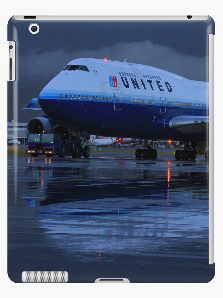 'United Airlines Boeing 747-400' iPad Case/Skin by code7600