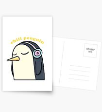 Chill Penguin With Headphone Postcards