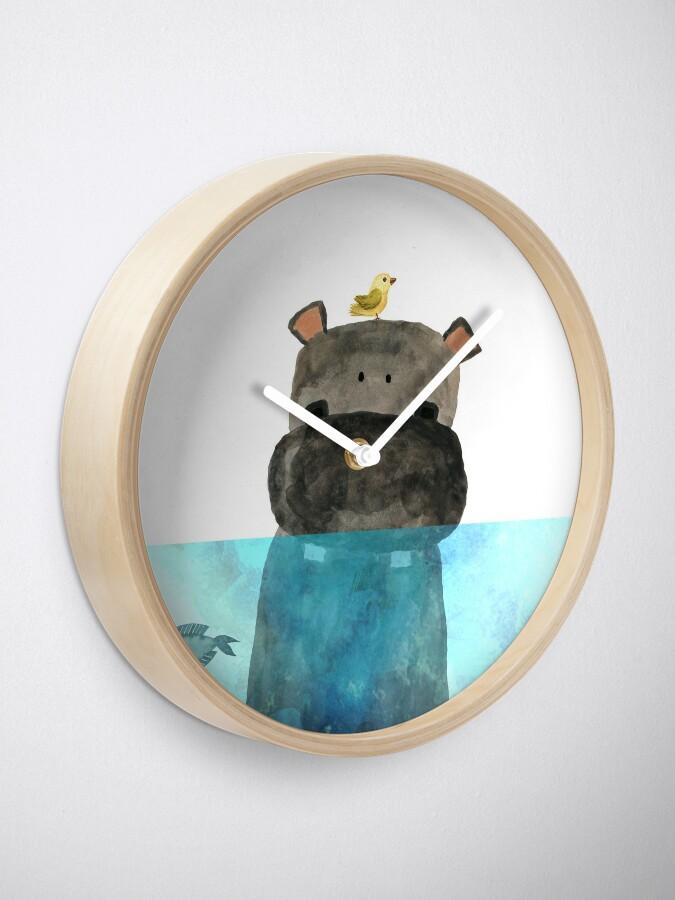 Alternate view of Hippo Love Clock