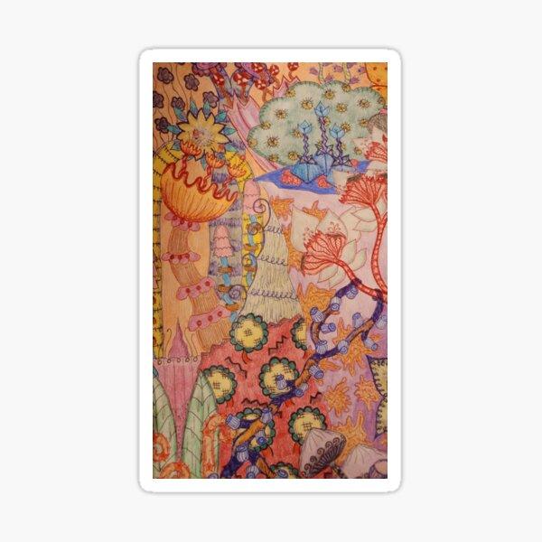 Trippy Forest Sticker