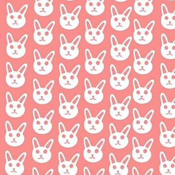 Cute Pink Bunny Pattern by Savsart