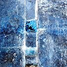 Blue Grunge Abstract I by Kathie Nichols