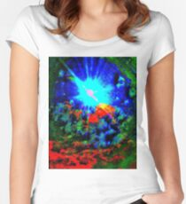 Psychedelic Spaceship Women's Fitted Scoop T-Shirt