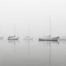 Five foggy boats by Michael Howard