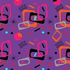 Funky Colorful Abstract Geometric Pattern by Artification