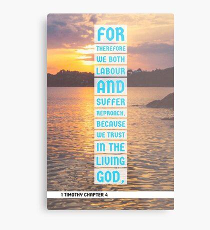 1 Timothy chapter 4 Metal Print