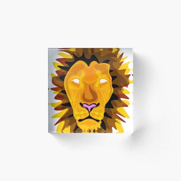Lion Acrylic Block