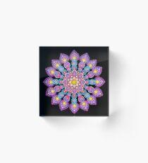 Purple Dot Mandala - Art&Deco By Natasha Acrylic Block