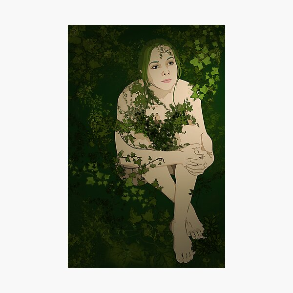 Green Girl Photographic Print