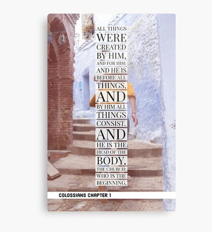 Colossians chapter 1 Metal Print