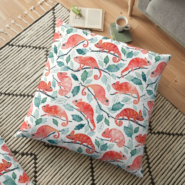 Chameleon garden Floor Pillow