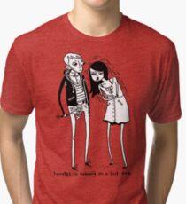 Tourettes Is Awkward. Tri-blend T-Shirt