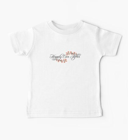 Black Script Happily Ever After Tropical Hibiscus Flower Fusion Swirls Kids Clothes