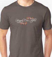 White White Happily Ever After Tropical Hibiscus Flower Fusion Swirls Unisex T-Shirt