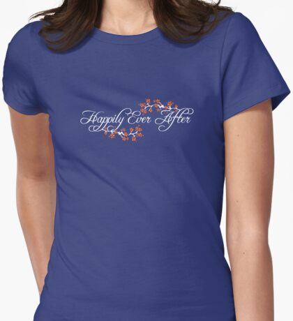 White White Happily Ever After Tropical Hibiscus Flower Fusion Swirls T-Shirt