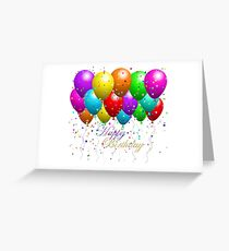 Party Balloons Happy Birthday Greeting Card