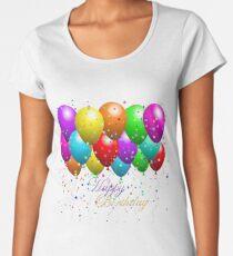 Party Balloons Happy Birthday Women's Premium T-Shirt