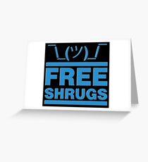 Free Shrug Greeting Card