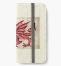Y Ddraig Goch - The Welsh Dragon iPhone Wallet/Case/Skin
