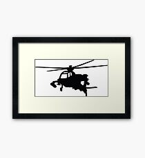 helicopter helicopter Framed Print