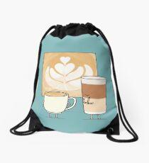 Latte art Drawstring Bag