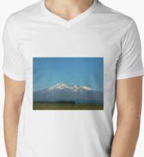 Mount Ruapehu New Zealand  Men's V-Neck T-Shirt