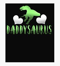 Daddysaurus Father's Day Gift Photographic Print