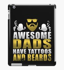 Awesome Dads Have Tattoos And Beards Gold iPad Case/Skin