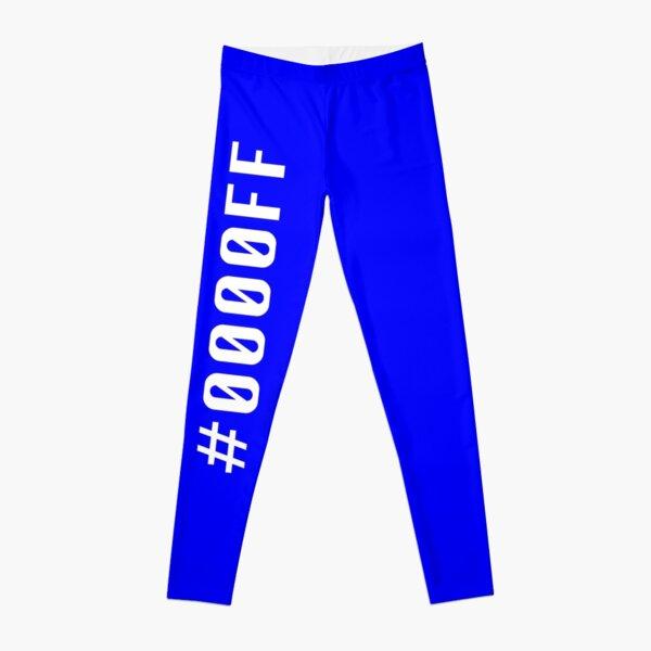 Blue Hex Code #0000FF Leggings