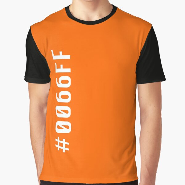 Orange Hex Code #FF6600 Graphic T-Shirt
