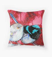 Pair of Wrens Throw Pillow