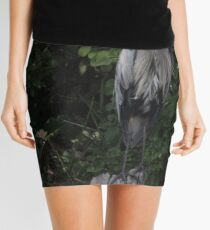 Great Blue Heron from Okauchee Wisconsin Mini Skirt