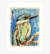 Sacred Kingfisher Art Print