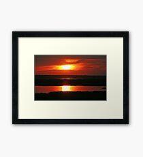 Chobe Sunset Framed Print