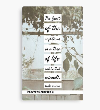Proverbs chapter 11 Metal Print